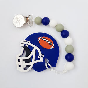 Football Helmet Teether Clip