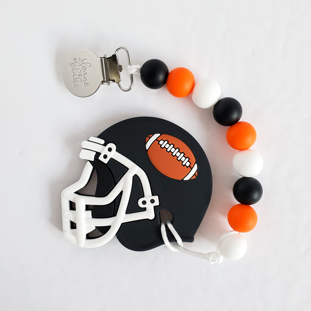 BC Football Teether Clip