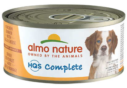 Almo Nature - HQS Complete Chicken Dinner with Egg and Cheese (For Dogs) - ARMOR THE POOCH