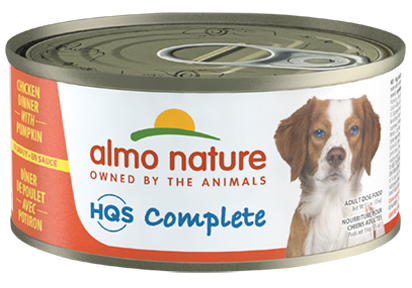 Almo Nature - HQS Complete Chicken Dinner with Pumpkin (Wet Dog Food) - ARMOR THE POOCH