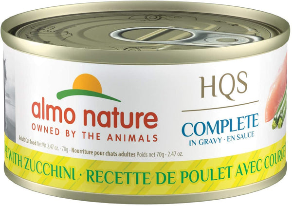 Almo Nature - HQS Complete Chicken Recipe with Zucchini in Gravy (Wet Cat Food)