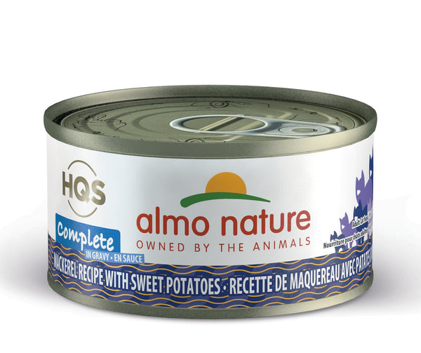 Almo Nature - HQS Complete Mackerel Recipe with Sweet Potatoes in Gravy (Wet Cat Food)