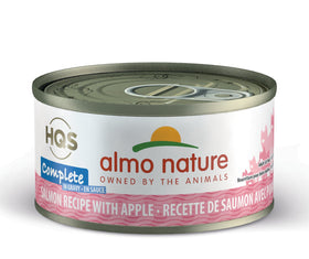 Almo Nature - HQS Complete Salmon Recipe with Apple in Gravy (Wet Cat Food)