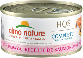 Almo Nature - HQS Complete Salmon Recipe with Papaya in Gravy (Wet Cat Food)