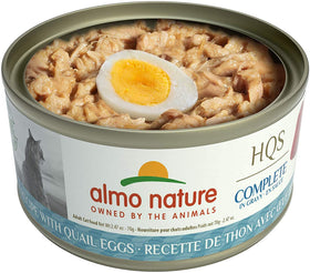 Almo Nature - HQS Complete Tuna Recipe with Quail Eggs in Gravy (Wet Cat Food)