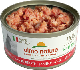 Almo Nature - HQS Made in Italy Ham with Parmesan in Broth (Wet Cat Food)