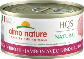 Almo Nature - HQS Made in Italy Ham with Turkey in Broth (Wet Cat Food)
