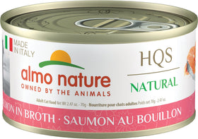 Almo Nature - HQS Made in Italy Salmon in Broth (Wet Cat Food)