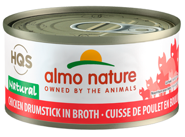 Almo Nature - HQS Natural Chicken Drumstick in Broth (Wet Cat Food)