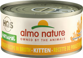 Almo Nature - HQS Natural Chicken Recipe in Broth (Wet Kitten Food)