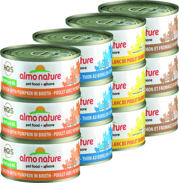 Almo Nature - HQS Natural Chicken & Tuna Variety Pack (Wet Cat Food)