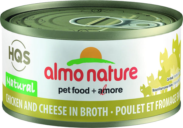 Almo Nature - HQS Natural Chicken and Cheese in Broth (Wet Cat Food)