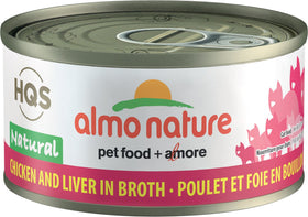 Almo Nature - HQS Natural Chicken and Liver in Broth (Wet Cat Food)