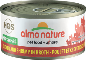 Almo Nature - HQS Natural Chicken and Shrimps in Broth (Wet Cat Food)