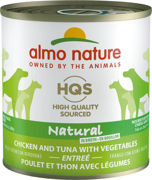 Almo Nature - HQS Natural Chicken and Tuna with Vegetables Entree (For Dogs)