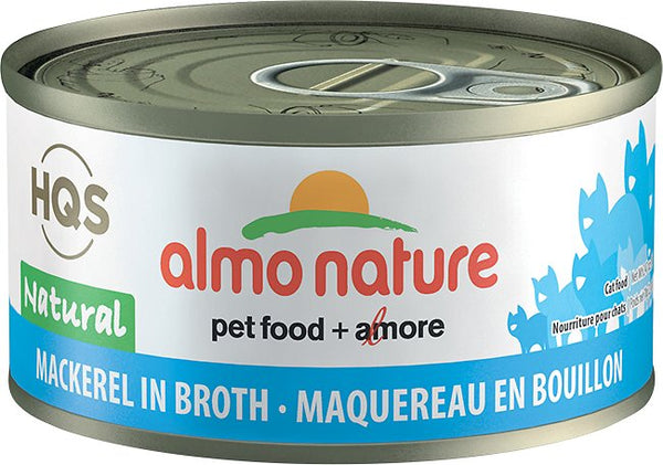 Almo Nature - HQS Natural Mackerel in Broth (Wet Cat Food)