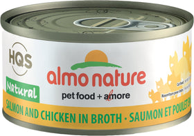 Almo Nature - HQS Natural Salmon and Chicken in Broth (Wet Cat Food)