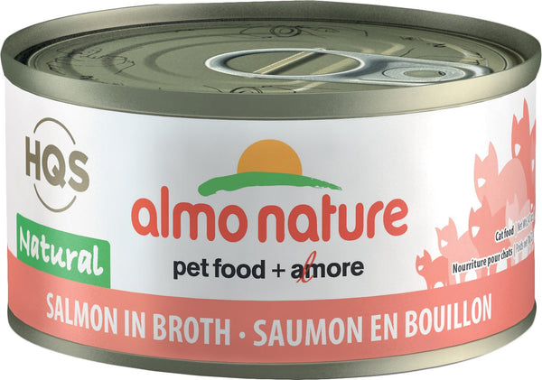 Almo Nature - HQS Natural Salmon in broth in Broth (Wet Cat Food)