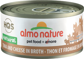Almo Nature - HQS Natural Tuna and Cheese in Broth (Wet Cat Food)