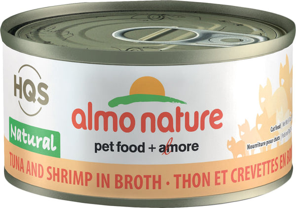 Almo Nature - HQS Natural Tuna and Shrimps in Broth (Wet Cat Food)