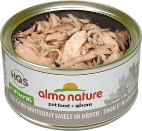 Almo Nature - HQS Natural Tuna and Whitebait Smelt in Broth (Wet Cat Food)
