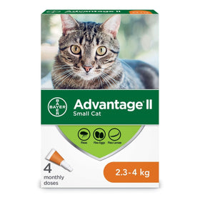 Bayer - Advantage II - Topical Flea Treatment for Cats (For Cats 2.3kg - 4kg)