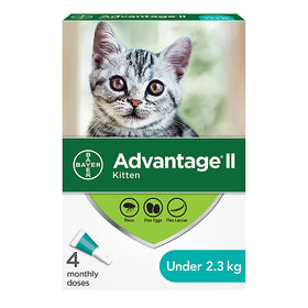 Bayer - Advantage II - Topical Flea Treatment for Cats (For Cats under 2.3kg)