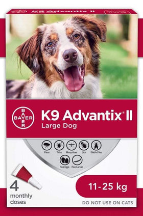 Bayer - K9 Advantix II - Topical Flea and Tick Treatment for Dogs (For Dogs 11kg - 25kg)