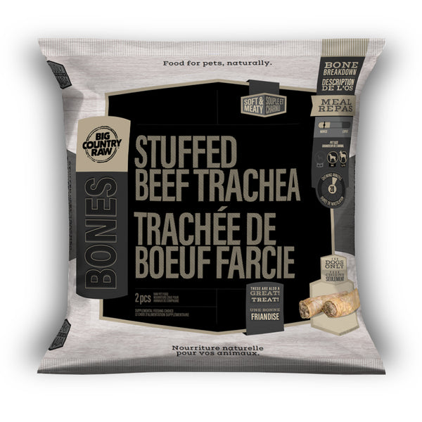 Big Country Raw - Stuffed Beef Tracheas (2 pieces) - Frozen Product