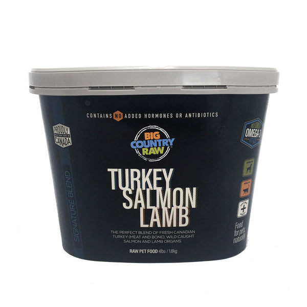 Big Country Raw - Turkey Salmon Lamb Tub (4lb) - Frozen Product