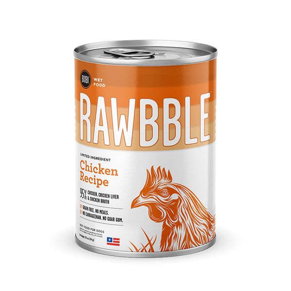 Bixbi Rawbble - Canned Wet Food - Chicken Recipe - ARMOR THE POOCH
