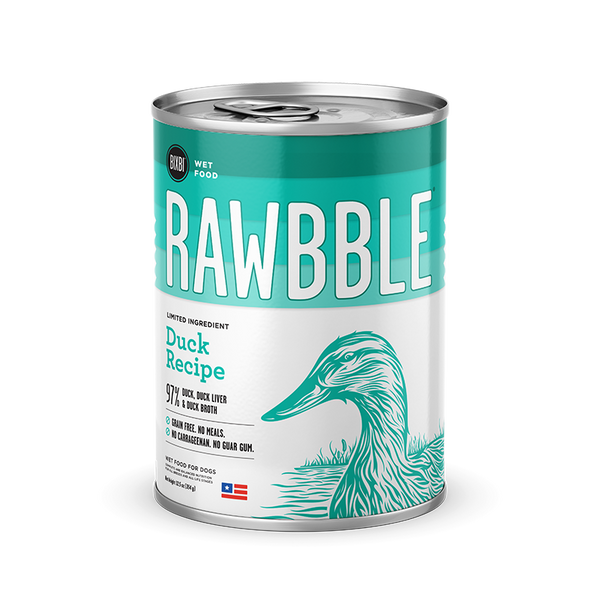 Bixbi Rawbble - Canned Wet Food - Duck Recipe - ARMOR THE POOCH