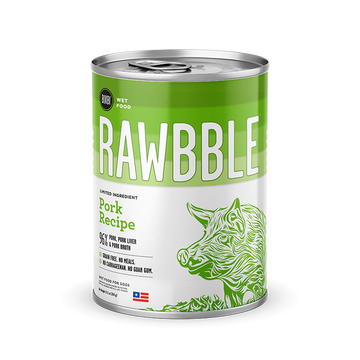 Bixbi Rawbble - Canned Wet Food - Pork Recipe