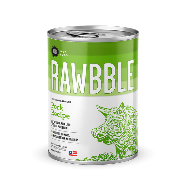Bixbi Rawbble - Canned Wet Food - Pork Recipe - ARMOR THE POOCH