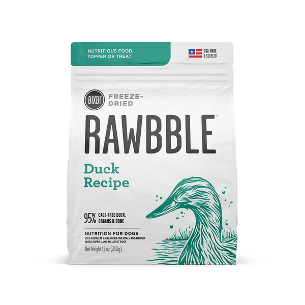 Bixbi Rawbble - Freeze Dried - Duck Recipe - ARMOR THE POOCH