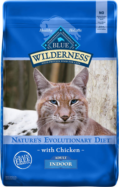 Blue Buffalo - Blue Wilderness - Indoor Chicken Recipe (Adult Dry Cat Food)