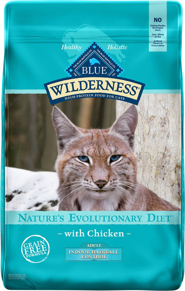 Blue Buffalo - Blue Wilderness - Indoor Hairball Chicken Recipe (Adult Dry Cat Food)
