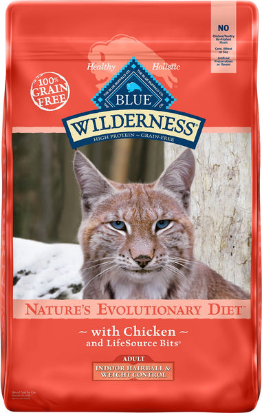 Blue Buffalo - Blue Wilderness - Indoor Hairball and Weight Control Chicken Recipe (Adult Dry Cat Food)