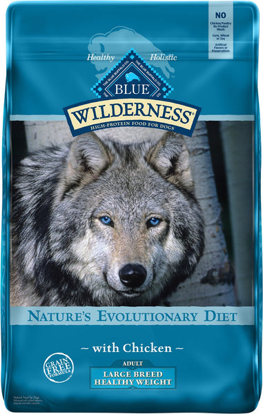 Blue Buffalo - Blue Wilderness - Large Breed Healthy Weight Chicken Recipe Grain-Free (Adult Dry Dog Food)