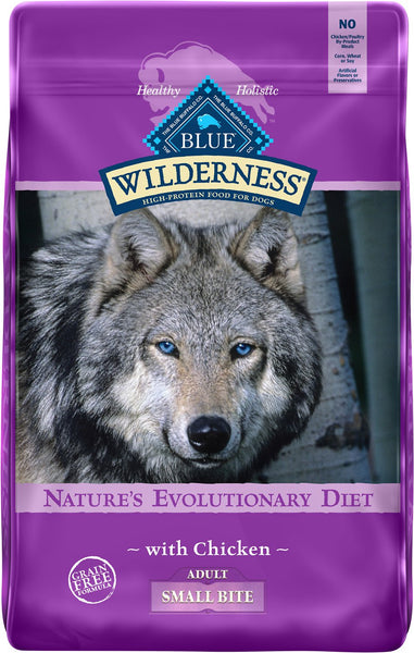 Blue Buffalo - Blue Wilderness - Small Bite Chicken Recipe Grain-Free (Adult Dry Dog Food)
