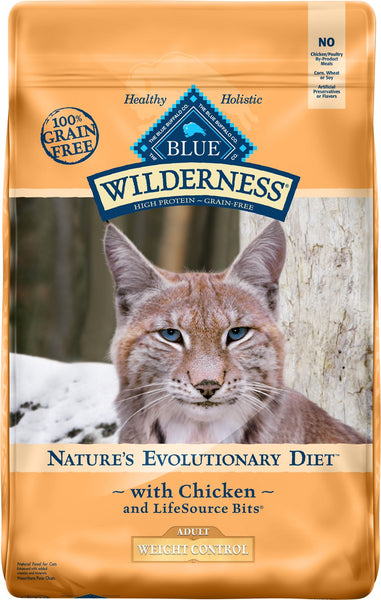 Blue Buffalo - Blue Wilderness -Weight Control Chicken Recipe (Adult Dry Cat Food)