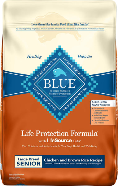 Blue Buffalo - Life Protection Formula - Chicken & Brown Rice Recipe (Large Breed Senior Dry Dog Food)