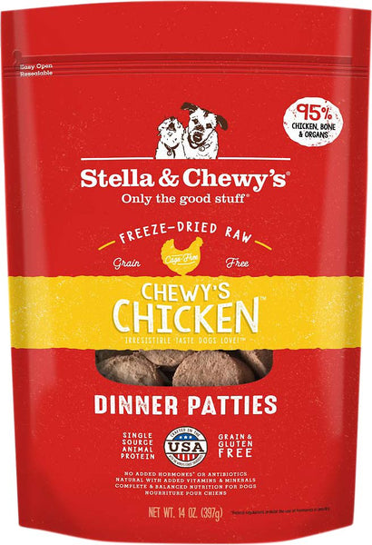 Stella & Chewy's - Chewy's Chicken Dinner Patties Freeze-Dried Raw Dog Food - ARMOR THE POOCH