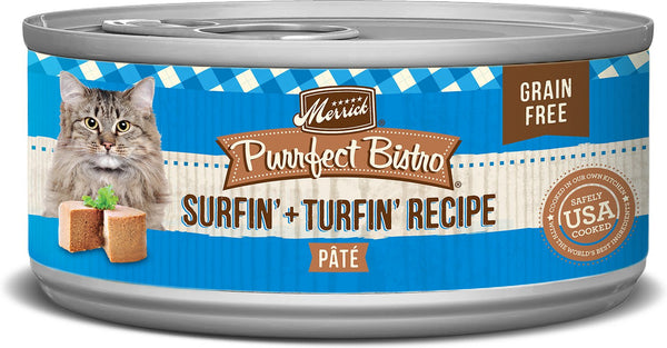 Merrick - Purrfect Bistro Grain Free Surf & Turf Pâté (Canned Cat Food)