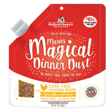 Stella & Chewy's -  Marie's Magical Dinner Dust Freeze-Dried Raw Cage-Free Chicken Dog Food Topper