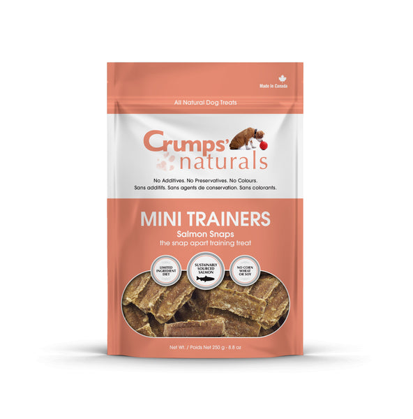 Crumps' Naturals - Mini Trainers Salmon Snaps Treat - ARMOR THE POOCH