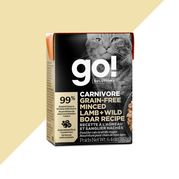 Go! SOLUTIONS - Carnivore - Grain Free Minced Lamb & Wild Boar Recipe (Wet Cat Food)
