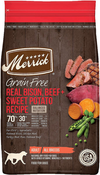 Merrick - Grain-Free Real Bison, Beef + Sweet Potato Recipe (Adult Dry Dog Food) - ARMOR THE POOCH™