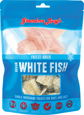 Grandma Lucy's - Freeze-Dried Singles Ocean White Fish Dog & Cat Treats