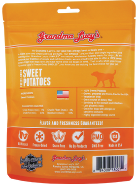 Grandma Lucy's - Freeze-Dried Singles Sweet Potatoes Dog Treats